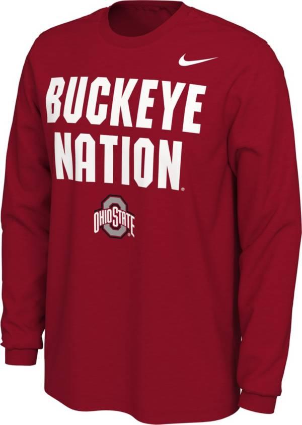 Nike Men's Ohio State Buckeyes Scarlet Buckeye Nation Mantra Long Sleeve T-Shirt product image