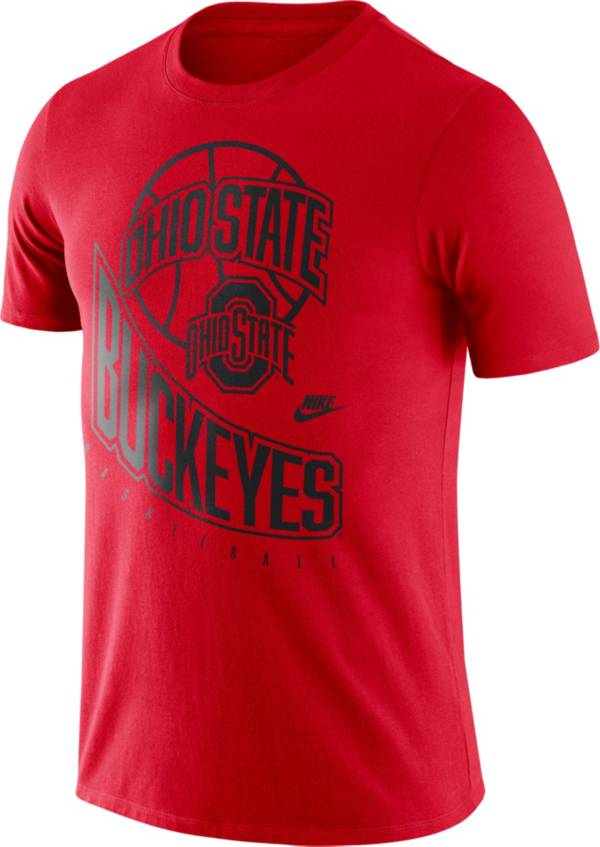Nike Men's Ohio State Buckeyes Scarlet Retro Basketball T-Shirt product image