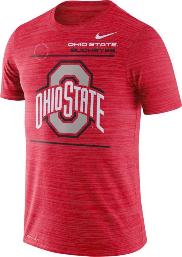 Nike Men's Ohio State Buckeyes Scarlet Dri-FIT Velocity Football Sideline T-Shirt product image