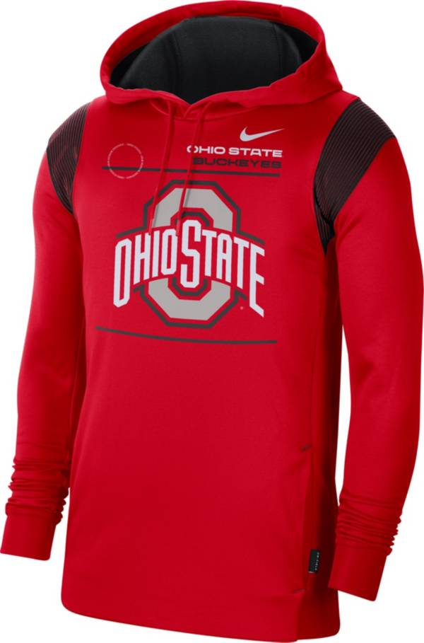 Nike Men's Ohio State Buckeyes Scarlet Therma Performance Pullover Hoodie product image