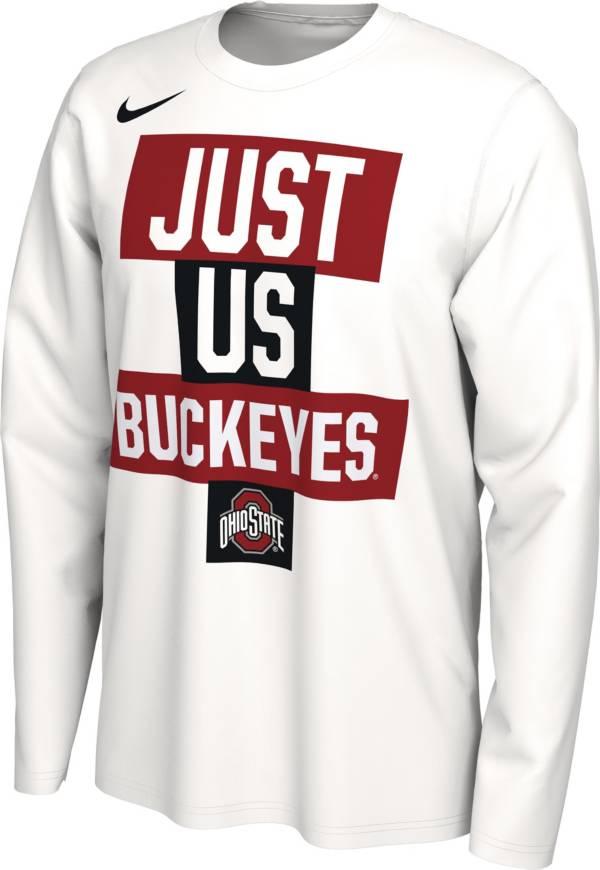 Nike Men's Ohio State Buckeyes 'Just Us' Bench Long Sleeve T-Shirt product image
