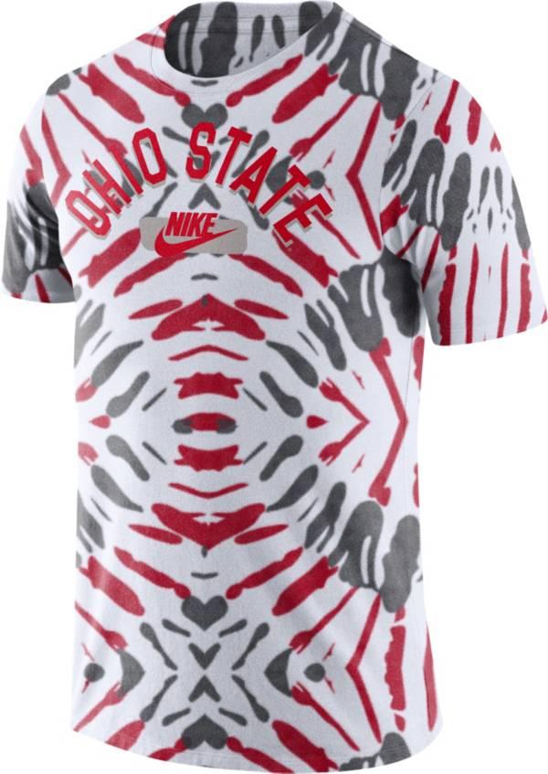 Nike Men's Ohio State Buckeyes White Tie-Dye Festival T-Shirt product image