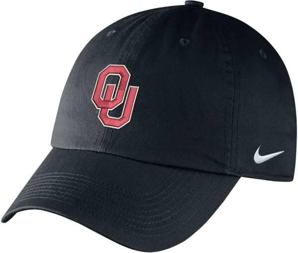 Nike Men's Oklahoma Sooners Campus Adjustable Black Hat product image