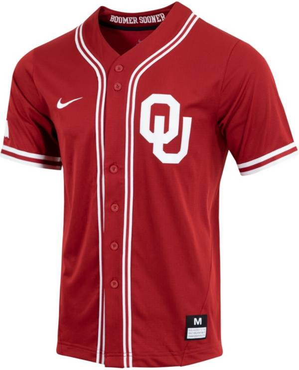 Nike Men's Oklahoma Sooners Crimson Dri-FIT Replica Baseball Jersey product image