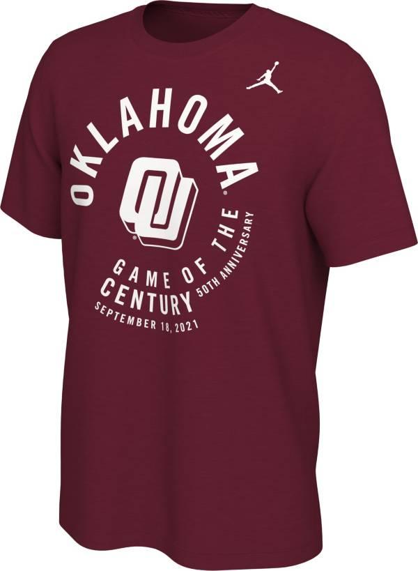 Jordan Men's Oklahoma Sooners Crimson Game of the Century T-Shirt product image
