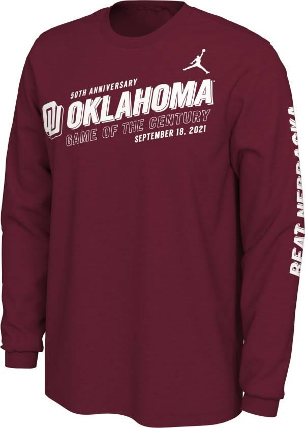 Jordan Men's Oklahoma Sooners Crimson Game of the Century Long Sleeve T-Shirt product image