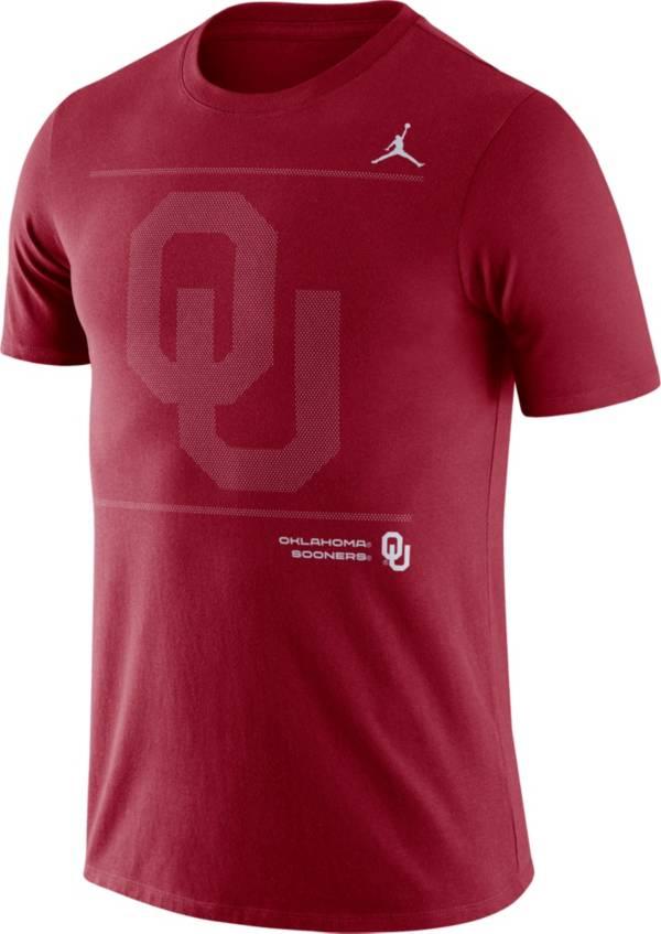 Jordan Men's Oklahoma Sooners Crimson Dri-FIT Cotton Football Team Issue T-Shirt product image