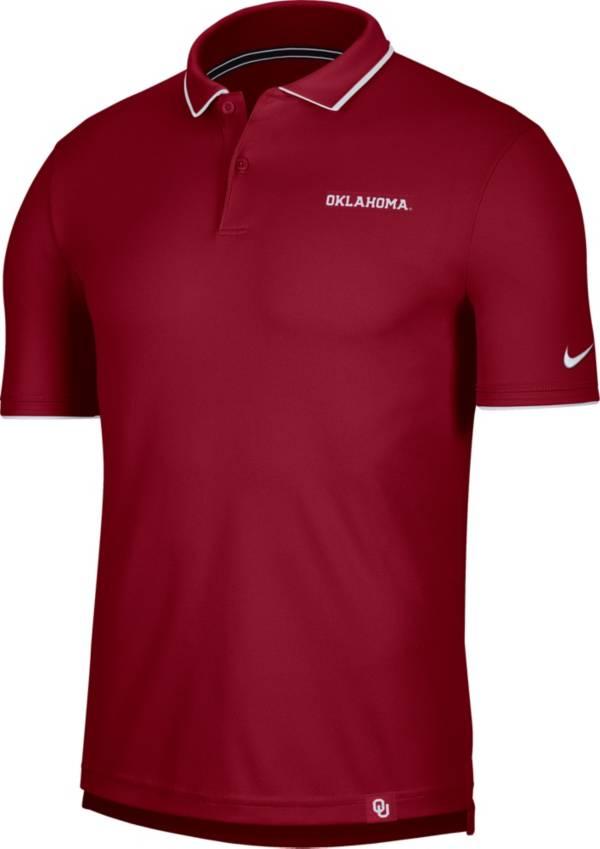 Nike Men's Oklahoma Sooners Crimson Dri-FIT UV Polo product image