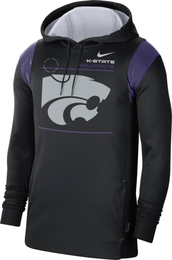 Nike Men's Kansas State Wildcats Therma Performance Pullover Black Hoodie product image