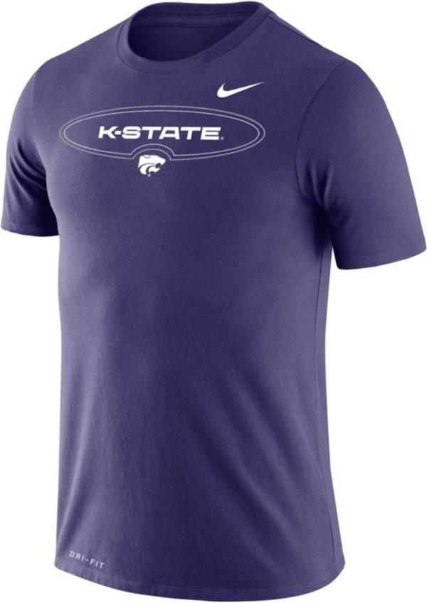 Nike Men's Kansas State Wildcats Purple Dri-FIT Legend Wordmark T-Shirt product image