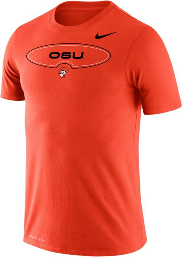 Nike Men's Oklahoma State Cowboys Orange Dri-FIT Legend Wordmark T-Shirt product image