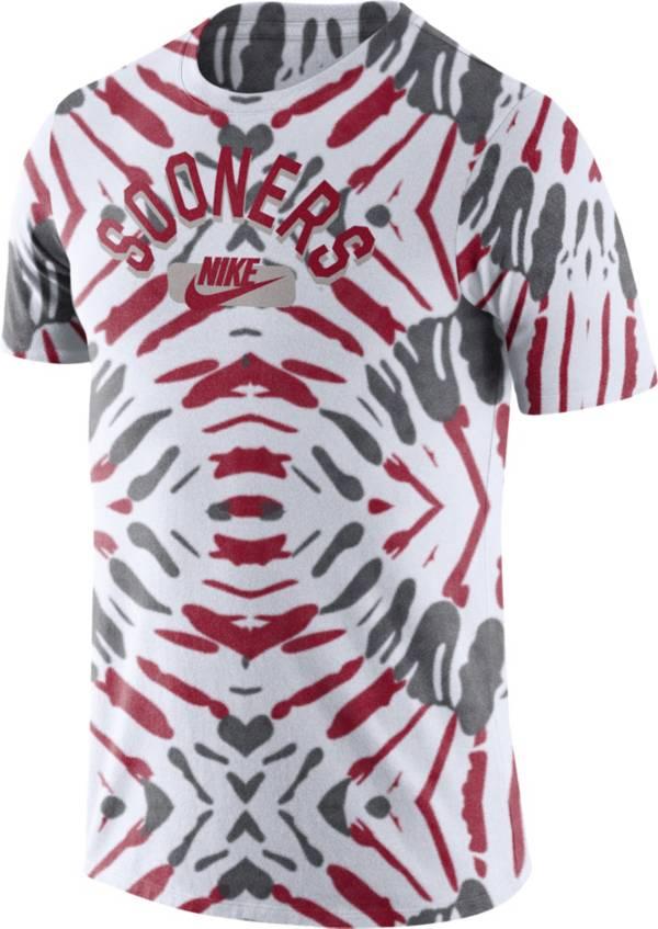 Nike Men's Oklahoma Sooners White Tie-Dye Festival T-Shirt product image