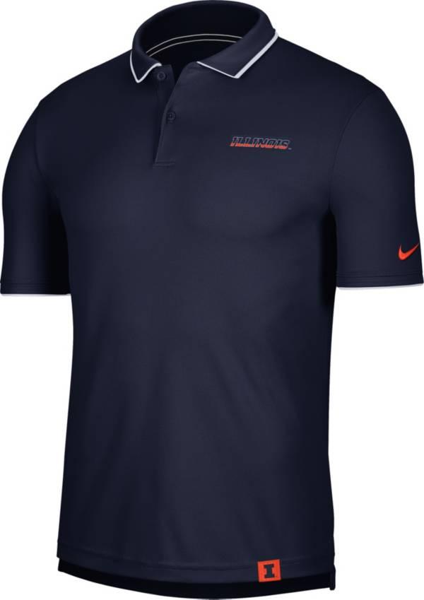 Nike Men's Illinois Fighting Illini Blue Dri-FIT UV Polo product image