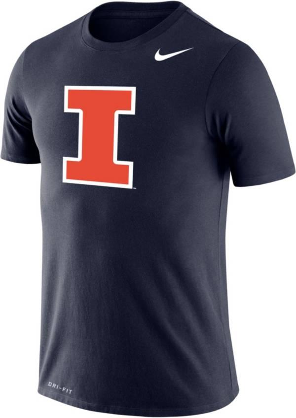Nike Men's Illinois Fighting Illini Blue Dri-FIT Legend T-Shirt product image