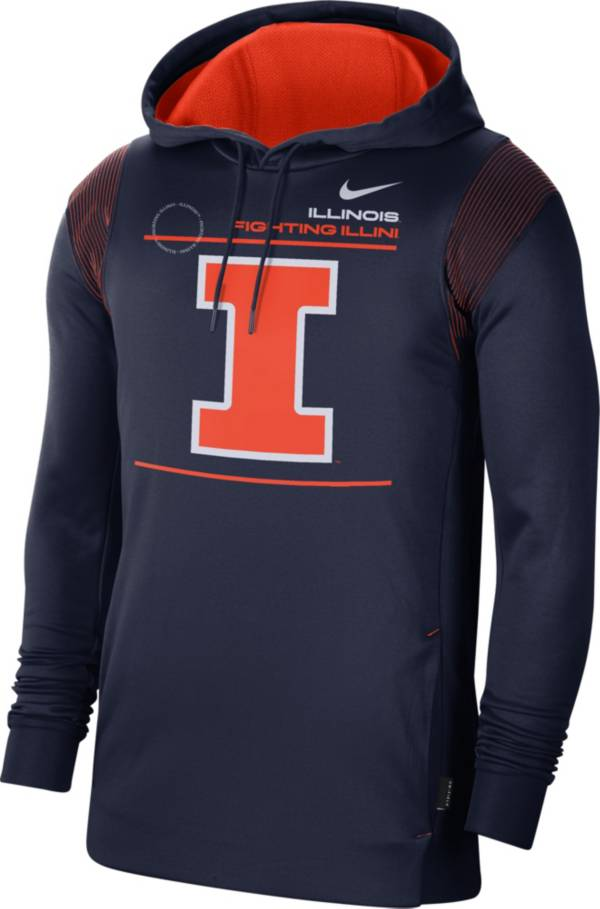 Nike Men's Illinois Fighting Illini Blue Therma Performance Pullover Hoodie product image