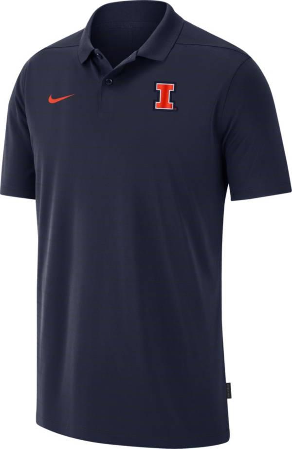 Nike Men's Illinois Fighting Illini Blue Football Sideline Victory Polo product image