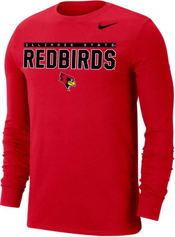 Nike Men's Illinois State Redbirds Red Dri-FIT Cotton Long Sleeve T-Shirt product image