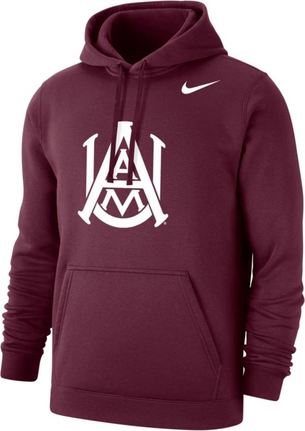 Nike Men's Alabama A&M Bulldogs Maroon Club Fleece Pullover Hoodie product image