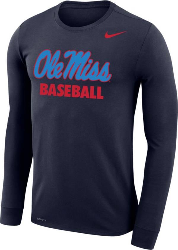 Nike Men's Ole Miss Rebels Baseball Long Sleeve T-Shirt product image