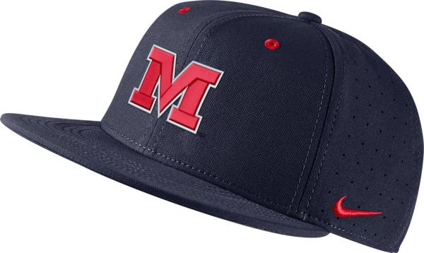 Nike Men's Ole Miss Rebels Blue Fitted Baseball Hat product image