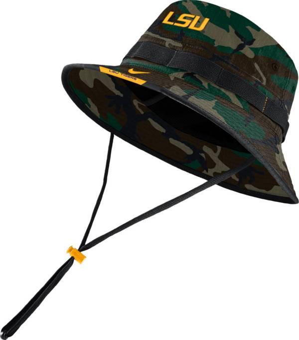 Nike Men's LSU Tigers Camo Dri-FIT Football Sideline Bucket Hat product image
