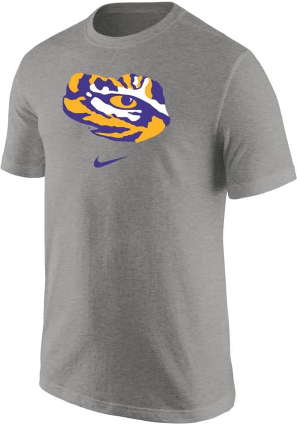 Nike Men's LSU Tigers Grey Core Cotton Logo T-Shirt product image