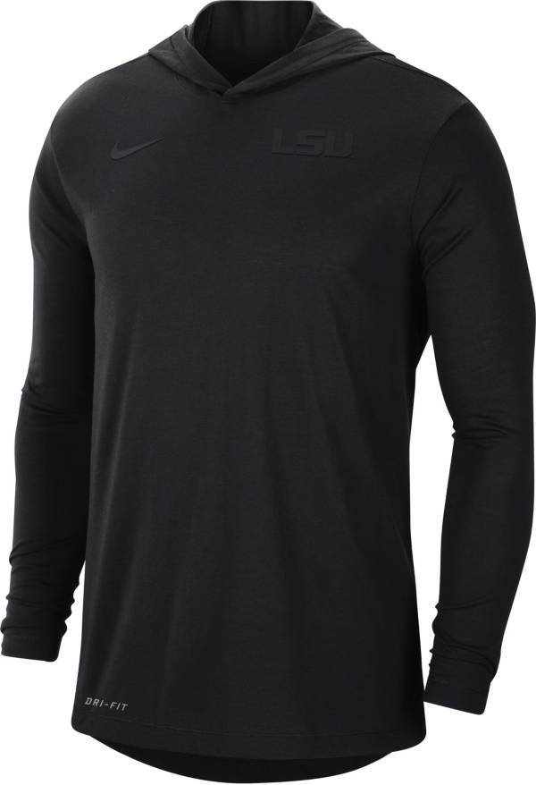 Nike Men's LSU Tigers Black Dri-FIT Vapor Pinnacle Long Sleeve Hoodie T-Shirt product image