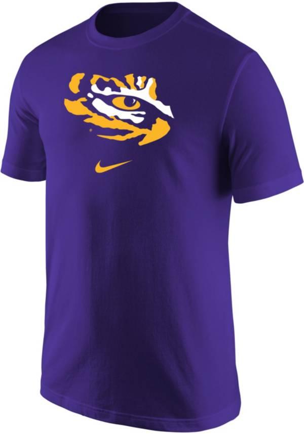 Nike Men's LSU Tigers Purple Core Cotton Logo T-Shirt product image
