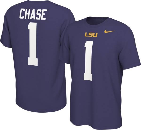 Nike Men's LSU Tigers Ja'Marr Chase #1 Purple Football Jersey T-Shirt product image