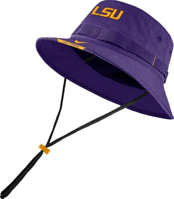 Nike Men's LSU Tigers Purple Dri-FIT Football Sideline Bucket Hat product image