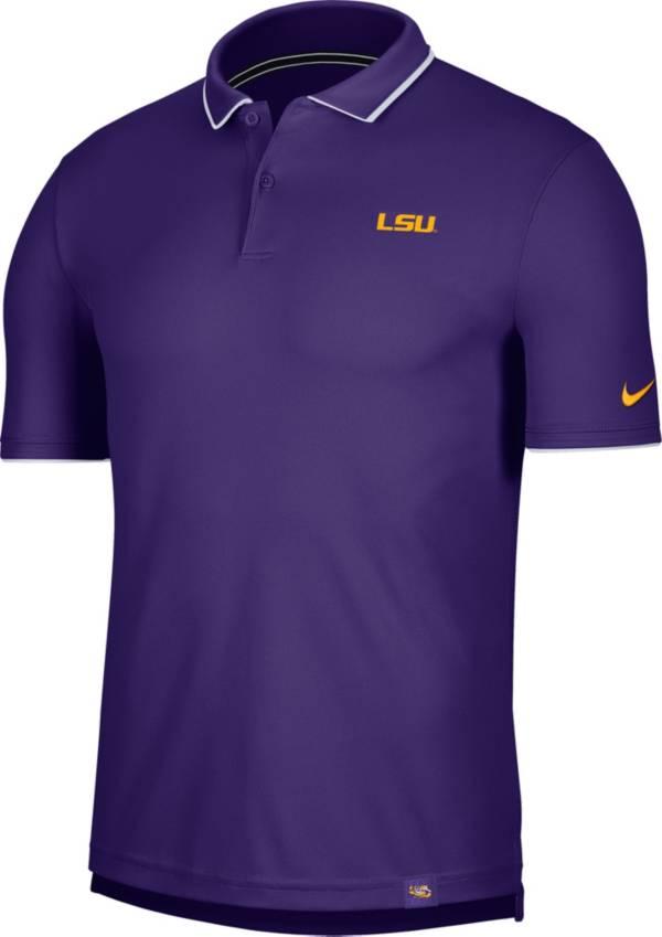 Nike Men's LSU Tigers Purple Dri-FIT UV Polo product image