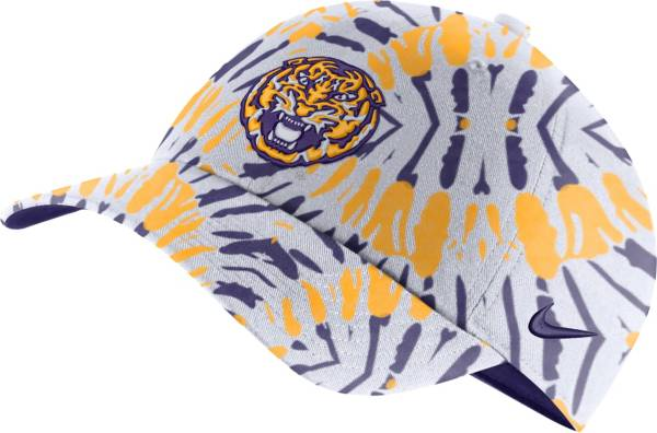 Nike Men's LSU Tigers Purple Tie-Dye Heritage86 Festival Hat product image