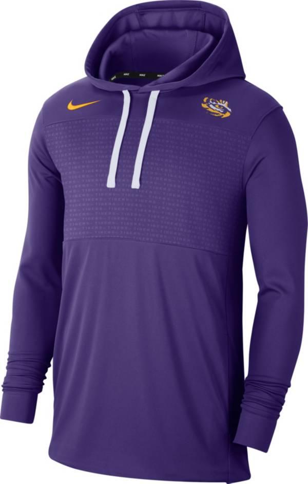 Nike Men's LSU Tigers Purple Lightweight Pullover Hoodie product image
