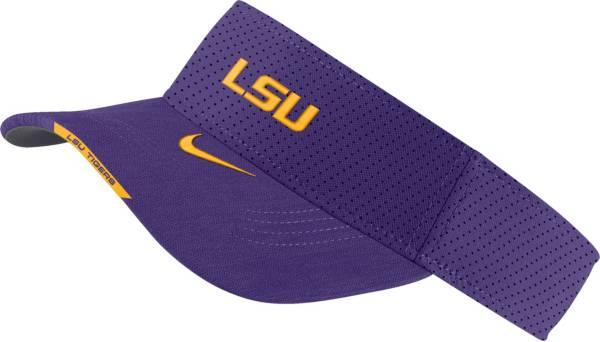 Nike Men's LSU Tigers Purple Aero Football Sideline Visor product image