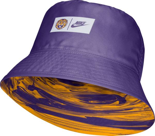 Nike Men's LSU Tigers Purple Dri-FIT Spring Break Reversible Bucket Hat product image
