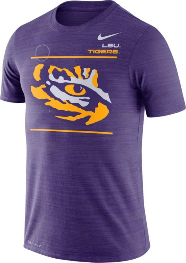 Nike Men's LSU Tigers Purple Dri-FIT Velocity Football Sideline T-Shirt product image