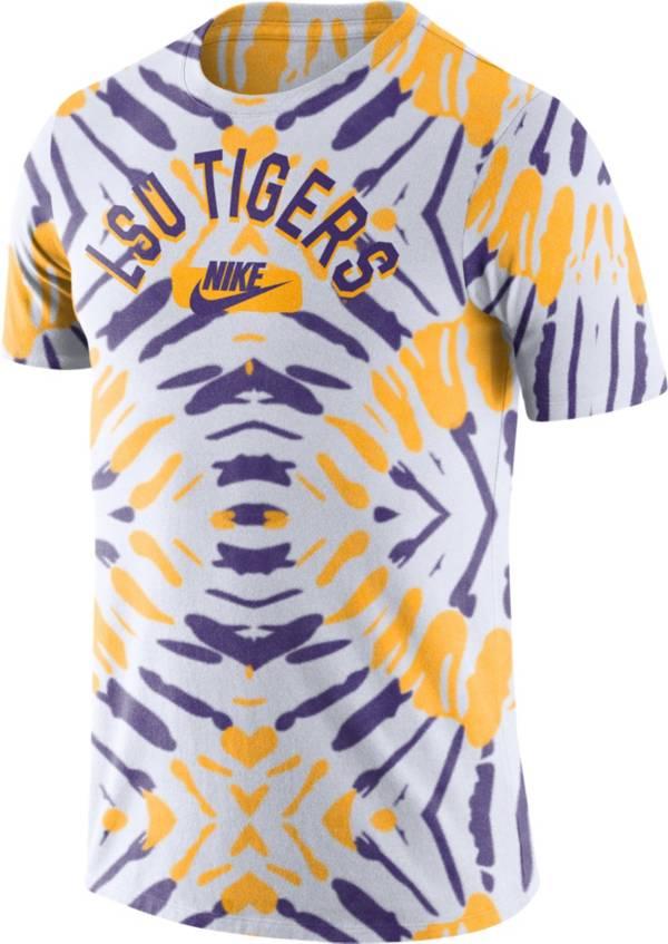 Nike Men's LSU Tigers White Tie-Dye Festival T-Shirt product image