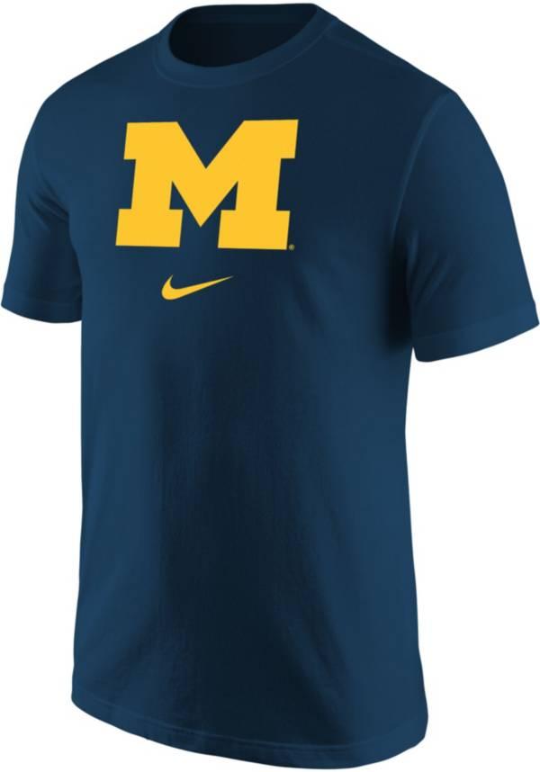 Nike Men's Michigan Wolverines Blue Core Cotton Logo T-Shirt product image