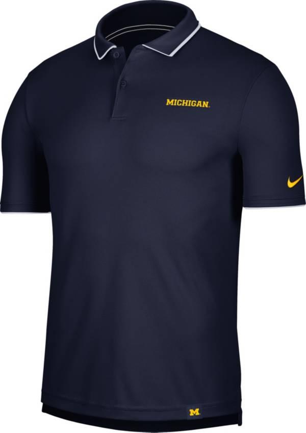 Nike Men's Michigan Wolverines Blue Dri-FIT UV Polo product image