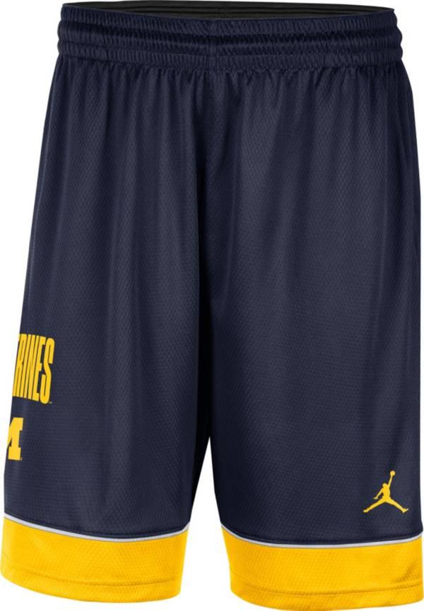 Jordan Men's Michigan Wolverines Blue Dri-FIT Basketball Shorts product image