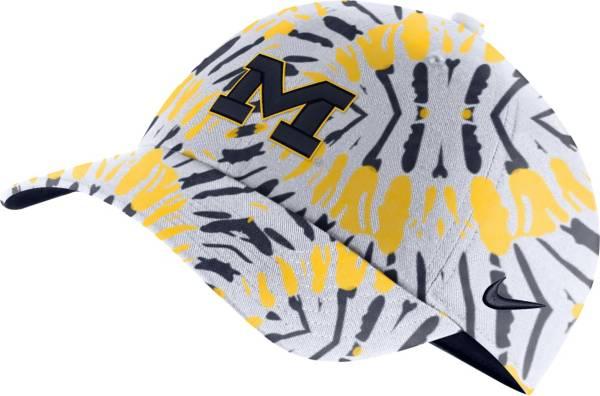 Nike Men's Michigan Wolverines Blue Tie-Dye Heritage86 Festival Hat product image