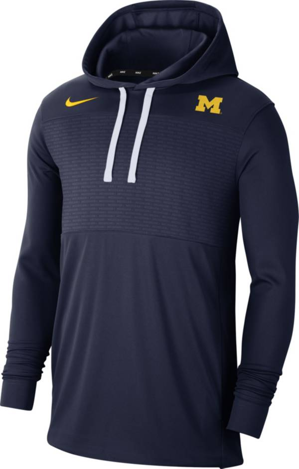 Nike Men's Michigan Wolverines Blue Lightweight Pullover Hoodie product image