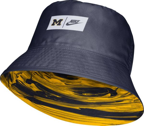 Nike Men's Michigan Wolverines Blue Dri-FIT Spring Break Reversible Bucket Hat product image