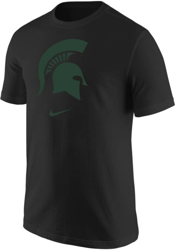 Nike Men's Michigan State Spartans Core Cotton Logo Black T-Shirt product image