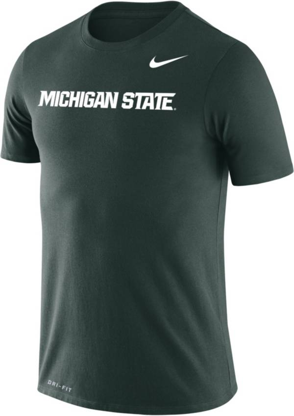 Nike Men's Michigan State Spartans Green Dri-FIT Legend Wordmark T-Shirt product image