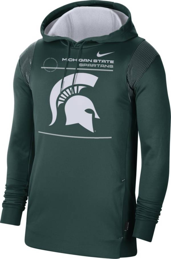 Nike Men's Michigan State Spartans Green Therma Performance Pullover Hoodie product image