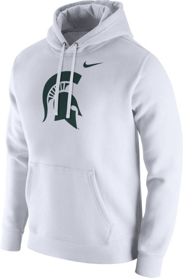 Nike Men's Michigan State Spartans Club Fleece Pullover White Hoodie product image