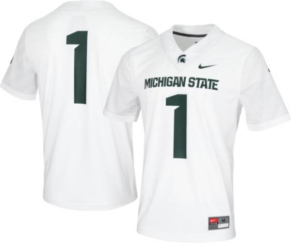 Nike Men's Michigan State Spartans #1 White Game Vapor Untouchable Football Jersey product image