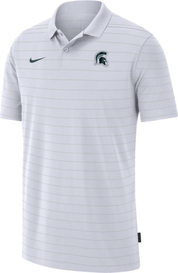 Nike Men's Michigan State Spartans Football Sideline Victory White Polo product image
