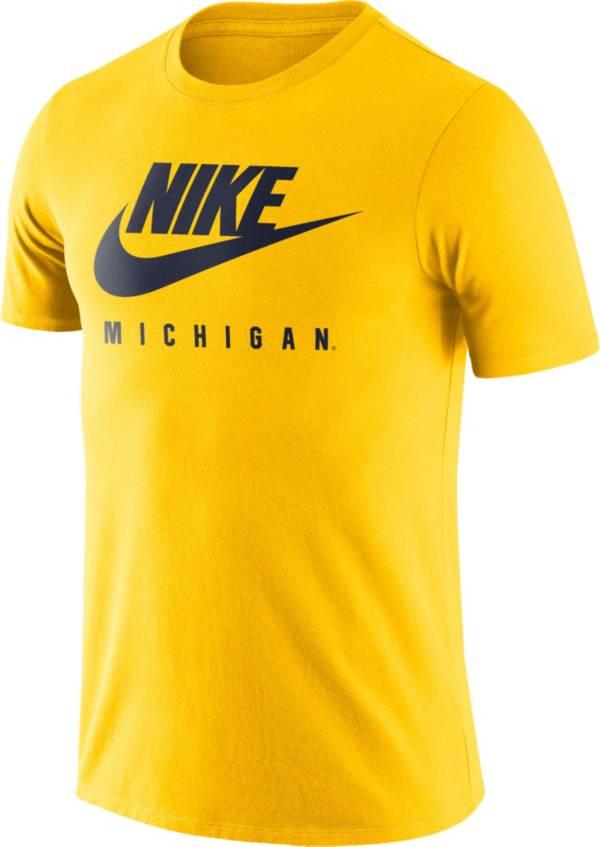 Nike Men's Michigan Wolverines Maize Futura T-Shirt product image